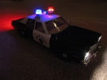 1/18 CHP Highway Patrol 1975 Dodge Monaco (Ertl) with Simulated Rotator Lightbar Custom Model