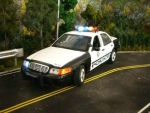 1/18 Las Vegas NV Police Ford Crown Victoria with Flashing Lights & Siren
